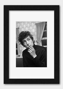Bob Dylan - Smoking Backstage at De Montfort Hall England 1965 Print