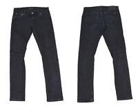 Nudie Long John Schwarzem Denim Slim Skinny Damen Jeans W29 L32