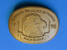 AMERICAN BALD EAGLE Belt Buckle - NEW RARE 1996 Kansas State Wildlife Parks 0494