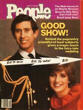 PRINCE CHARLES and LADY DIANA  PEOPLE Magazine August 1981 Classic Issue