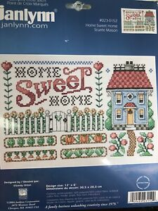 Janlynn  0230152 Home Sweet Home Counted Cross Stitch Kit