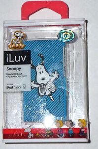 iLuv SNOOPY Hardshell Blue Striped Hardshell Case for iPod nano New in Box