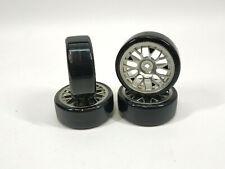 TAMIYA DRIFTECH DRIFT KOMPLETT REIFEN (4) 1:10 ONROAD CHROM 2mm OFFSET#300054021