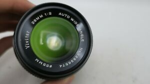 Vivitar 28mm F2  Auto Wide Angle Konica AR Mount Lens for SLR/Mirrorless Cameras