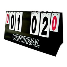 Central Flip Over Sports Points Scoring Board Unit - New