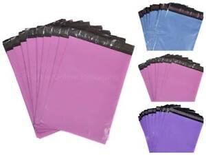MAILING BAGS PARCEL POSTAL SACKS ENVELOPES MAIL POST BAG BLUE PINK & PURPLE