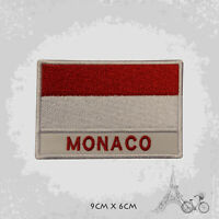 Monaco National Country Flag Patch Iron On Patch Sew On Embroidered Patch