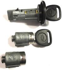 NEW Chevy GM OEM Ignition Key Switch +  2 Door Locks cylinder W/2 OEM Logo Keys