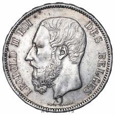 5 francs 1869 Léopold II Belgique - Argent