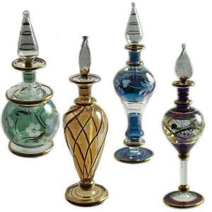 Vintage Handmade Egyptian Perfume Bottle made pre 1995 JCE11RE 15