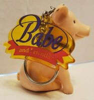 "Babe the Pig Figure Keyring Key Chain Keychain 2.5"""
