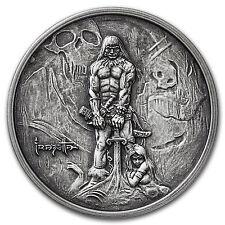 1 oz Silver Antique Round - Frank Frazetta (The Barbarian) - SKU #103693