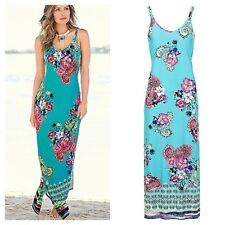 Kaleidoscope Simply Fab Size 10 Floral Paisley Print Maxi DRESS Occasion £45