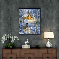 Diamond Painting Art 5D Cross Stitch Embroidery Kits Christmas Deer Home Decor