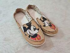 CROCS Disney Mickey Mouse Canvas Shoes Women Sz 9 Lightweight Slip On Flats