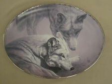 Wolf Collector Plate Sweet Intentions Lee Cable Nature'S Tenderness Wolves