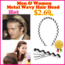 VQ Hippie Men & Women Metal Wavy Hair Head Band Headband/Hairband