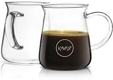 Borosilicate Glass Coffee Mugs Thermal Shock Proof - Condensation-Free, set of 2