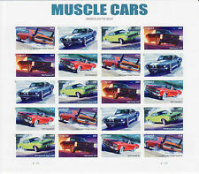 MUSCLE CARS STAMP SHEET -- USA #4743-4747 FOREVER 2013