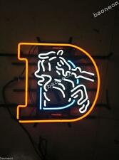 Rare DENVER BRONCOS World Champions Handcrafted Beer Bar Real NEON LIGHT SIGN