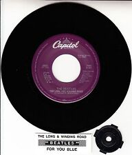 """BEATLES  The Long And Winding Road 45 7"""" record NEW RARE + juke box title strip"""