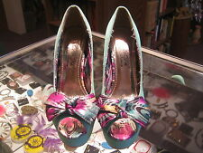 """DbDk Fashion """"Nini-1"""" light green floral high (3in and up) pumps size 5-1/2M"""