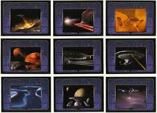 Star Trek Complete TNG Series 2 ~ USS ENTERPRISE NCC-1701-D Insert Set (E10-E18)