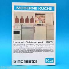 Budget-Congélateur h70 TK RDA 1975 prospectus publicité publicitaire papier Dewag k23 D