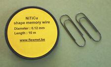 Nitinol shape memory, kit 1, Alliage à mémoire de forme