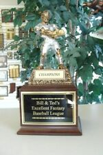 Fantasy Baseball Monster Perpetual Trophy 16 Years Free Face Plate Engraving *