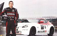 2013 Dan Mitchell Nissan 370Z GT Academy World Challenge blankback postcard