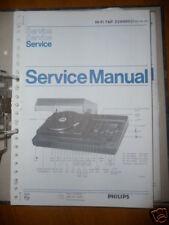 Philips Manual de servicio Tap 22Ah 862 Tocadiscos, original