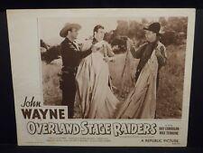 John Wayne The Three Mesquiteers Overland Stage Raiders 1938 R53 Lobby Card