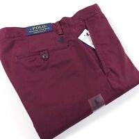 Polo Ralph Lauren Chinos Men's Stretch Slim Fit Classic Wine Bedford Pants Red