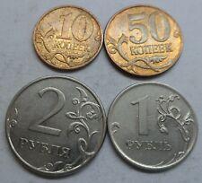 "Russland 10,50 Kopeken 1 und 2 Rubel 2010 ""M"" ## Kof4"
