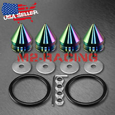 Neo Chrome Spike Quick Release Fasteners For Car Bumpers Trunk Fender Hatch Lids