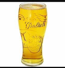 2 X NEW GROLSCH PINT GLASSES EMBOSSED WITH GROLSCH LOGO