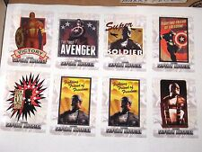 2011 CAPTAIN AMERICA THE FIRST AVENGER Insert CHASE 8 CARD LOT! CIVIL WAR POSTER