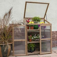 Best Grow house Greenhouse Wooden Cold Frame Mini Winter Plant Protection