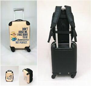 "SET! Koffer Trolley 4 Rollen Größe 32L + Rucksack 7,5L ""Minions"""