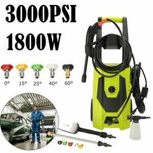3000PSI 1.8GPM Electric Pressure Washer High Power Auto Jet Cleaner Machine Kit