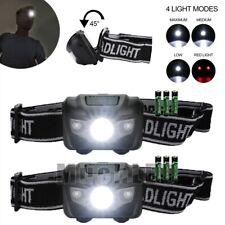 2x Ultra Bright 500LM LED Headlamp Headlight Flashlight Head Torch+AAA Battery