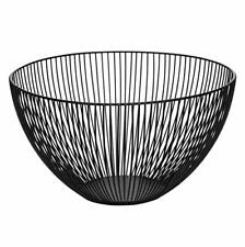 Wire Fruit Basket, Large Round Black Metal Fruit Bread Storage Baskets Bowl