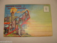 Georgia Empire State of the South Souvenir Folder Mailer unused 1942 fold-out PC