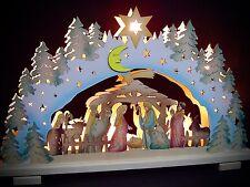 2D Arc à lumière à bougies multicolore naissance de Christ Sainte Famille 10