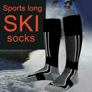 Mens Soft Thermal Padded Long Hose Winter Ski Socks Hiking Snowboarding