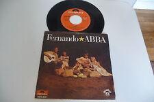 ABBA 45T FERNANDO / HEY HEY HELEN. RARE SP PORTUGAL PORTUGUESE PRESS.