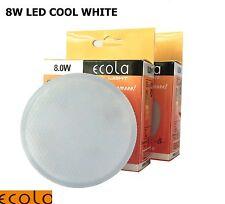 2 X 8W GX53 ECOLA LED Bulb Light Lamp COOL WHITE Lifespan 30000  hrs £ 4.75 unit