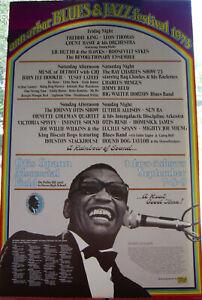Ann Arbor Blues & Jazz Festival 1973 Poster, Gary Grimshaw designed