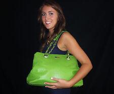 KATE SPADE Victoria Falls Maryanne Shopper Tote Purse $528 APPLE GREEN OSTRICH
